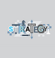 strategy creative word over abstract geometric vector image