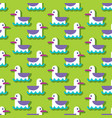 summer seamless pattern with seagull vector image