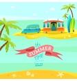 Summer Van vector image vector image