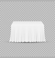 table with tablecloth isolated on a transparent vector image vector image