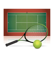 Tennis Court Ball and Racket vector image