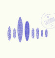 trendy print on a surfboard and skateboard vector image