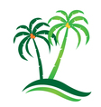 Tropical island logo vector image vector image