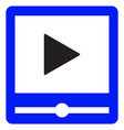 video player interface color icon vector image vector image