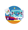 web traffic internet iconweb browser vector image vector image