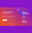website template design and landing page line vector image vector image