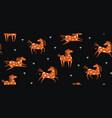 wild horse running scandinavian seamless pattern vector image
