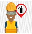worker protection industrial vector image vector image