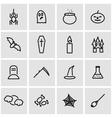 line halloween icon set vector image