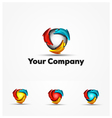 3D Group Fitness Logo Icon vector image