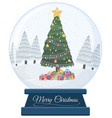 a snow globe on white background vector image