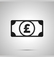 abstract money banknote with gbp sign simple vector image