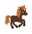 adorable cartoon horse character vector image vector image