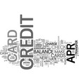apr credit cards a way to eliminate debt text vector image vector image