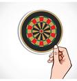 archery board in hand vector image vector image