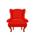 armchair colorful cartoon vector image vector image