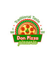 badge don pizza vector image