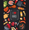barbecue or grill with coking elements on vector image vector image