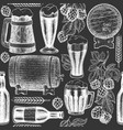 beer glass mug and hop seamless pattern hand vector image vector image