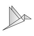 bird paper origami vector image