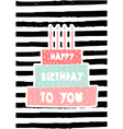 Birthday Cake Greeting Card Design vector image vector image