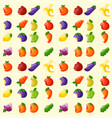 bitten fruits vitamin food seamless pattern vector image vector image