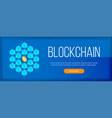 blockchain and cryptocurrency banner vector image vector image
