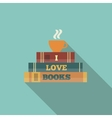 Books and cup of tea vector image