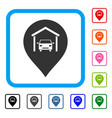 car garage marker framed icon vector image vector image