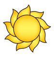 cartoon sun symbol icon design vector image