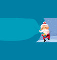 christmas banner cartoon vector image
