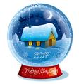 christmas crystal ball vector image vector image