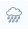 Cloud and rain sketch icon vector image vector image