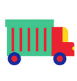 colorful truck flat on white vector image vector image