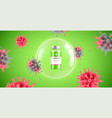 coronavirus vaccine test composition vector image vector image