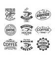 cup of coffee for shop or store sign cafeteria vector image