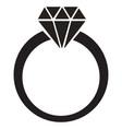 diamond ring icon vector image vector image