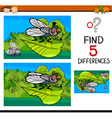 differences task for child vector image