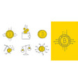 digital gold bitcoin concept icon set vector image vector image