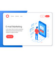 email marketing isometric concept vector image
