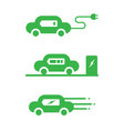 ev car icon vector image
