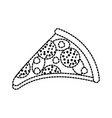 fast food pizza with cheese pepperoni tasty vector image