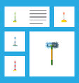 flat icon mop set of cleaner sweep equipment and vector image vector image