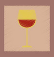 flat shading style icon glass of wine vector image