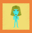 flat shading style icon mummy halloween monster vector image vector image