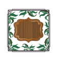frame with foliage isolated icon vector image vector image