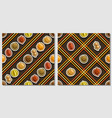 fruit seamless patterns vector image vector image