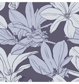 gray vintage magnolia seamless pattern vector image vector image