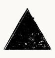 grunge isolated triangle vector image vector image
