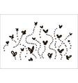 hand drawn flies simple sketch vector image vector image